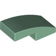 1/4 dış kavisli Fayans-Kiremit 1 basamak 1x2x2/3 - Soft-Yeşil