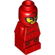 Bebek Micro miniFigür Baskı-No 10 1x1 - Kırmızı