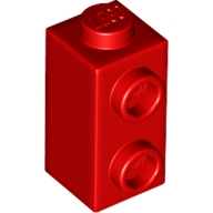 Yapı Taşı +2 Yan Çıkıntı-Dönüştürücü 1x1x1.3 - Kırmızı