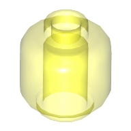 Minifigür Kafası Düz-Sade 1x1 - Şeffaf-Neon-Yeşil