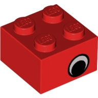 Yapı Taşı Baskı-Göz 2x2 - Kırmızı
