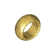Mini Takı Yüzük 7.5mm - Krom-Altın