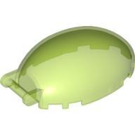 Çubuk Saplı Ön Cam 6x4x2 Kanopi Oval - Şeffaf-Çim-Yeşili