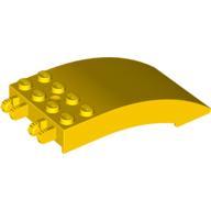 Ön Cam 8x4x2 Kavisli çift 2 Parmak - Sarı