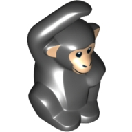 Mini Hayvan - küçük Maymun Baskı-No 1 1x1 - Siyah