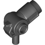 Mini Silah Lazer Tabanca yan çıkıntılı 20mm - Siyah