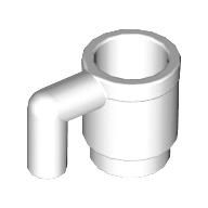 Mini Kupa Bardak - Kahve Tası 1x1 - Beyaz