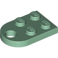 Bağlantı delikli kavisli Plaka 2x2 - Soft-Yeşil