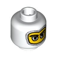 Mini Kafa Yarış Sürücüsü - Yün başlık görünüm 1x1 - Beyaz
